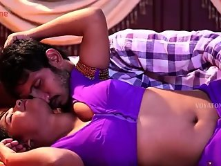 Hot desi shortfilm 86 - Uma navel kiss, press & boob press in purple blouse