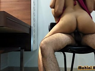 Indian top pornstar mohini fucking on chair with boyfriend hindi