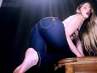 Ass Worship in Sexy Designer Denim Miss Me Jeans: tight pants joi countdown