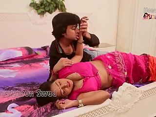 Hot desi shortfilm 344 - Boobs pressed & kissed in pink blouse, navel lick