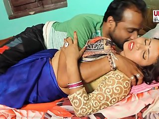 Hot bhojpuri song 66 - Sexy aunty's boobs pressed in blouse & smooched
