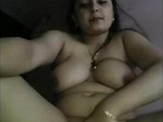 Indian Home Alone Bhabhi Playing with her pussy