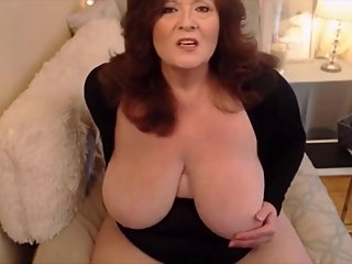 Curvaceous mature BBW with creamy cunt and huge breasts