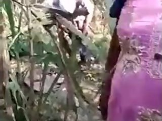 desi aunty and old man caught having sex public forest video by me
