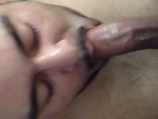 Latino sucking on my desi cock