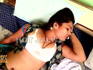 Hot desi shortfilm 355- Horny girl stripped to white bra, boob press, navel