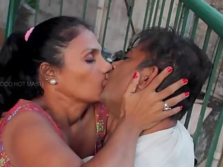 Hot desi shortfilm 338 - Mature aunty boobs squeezed hard, pressed & kissed