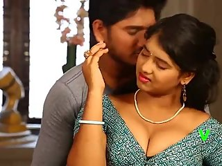 Hot desi shortfilm 135 - Uma boob press in blouse, navel kiss, ass squeeze