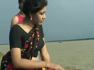 Hot bengali groping song 94 - Cute girl's boobs pressed in blouse, nip poke