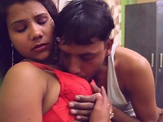 Hot desi shortfilm 63 - Boobs grabbed & squeezed hard in red bra,navel kiss