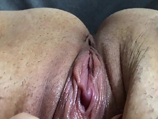 horny wife rubs wet pussy to orgasm while husband isn't home - Dirty Desire