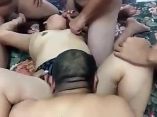 Indian Bhabhi Gets Gangbanged and DPed