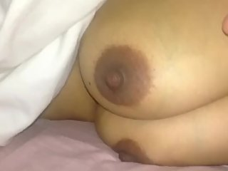Close up Boobs and Nipple play