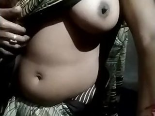 Indian girl boobs press hard in front of father