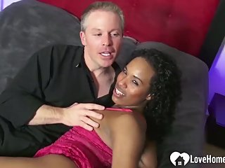 Desirable ebony princess gets caressed by her man
