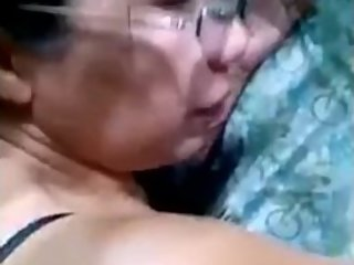 Old aunty sex with her younger boy